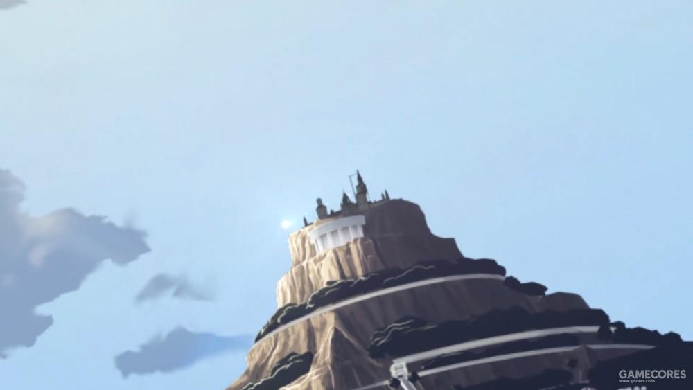 萨尔蒙神殿向陆地上派去探索队。星芒般的光点就是传送魔法中的队员们。