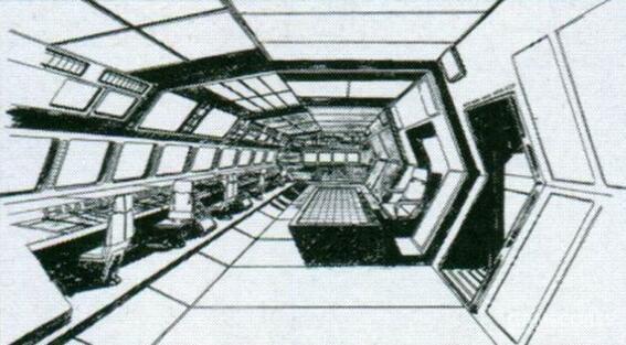 空间宽敞的舰桥能够满足指挥MS部队作战的需求。