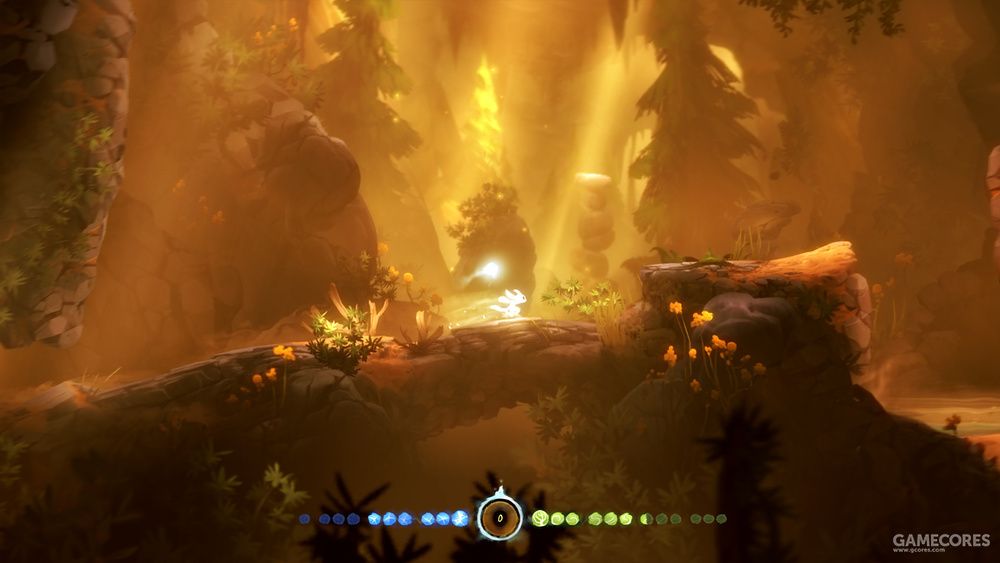攀爬飞跃,御风而行,流畅而舒适的操作手感让玩家仿佛真正化身为一只精灵,自由穿梭在神秘的森林中。