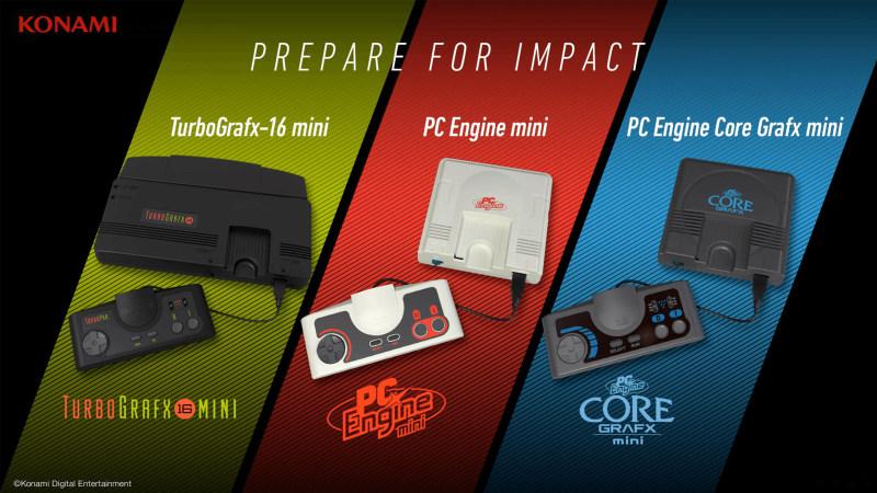 KONAMI宣布怀旧主机PCE Mini因受新冠影响延期发售