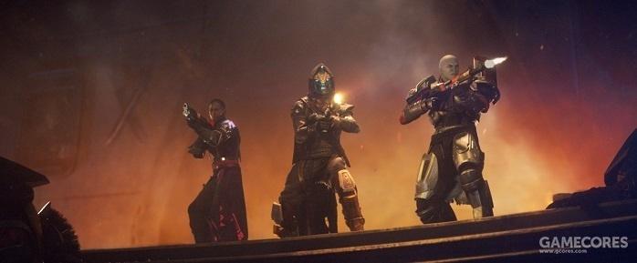 左起:人类,EXO,觉醒者(图中角色与本篇无关,仅为种族示意图)