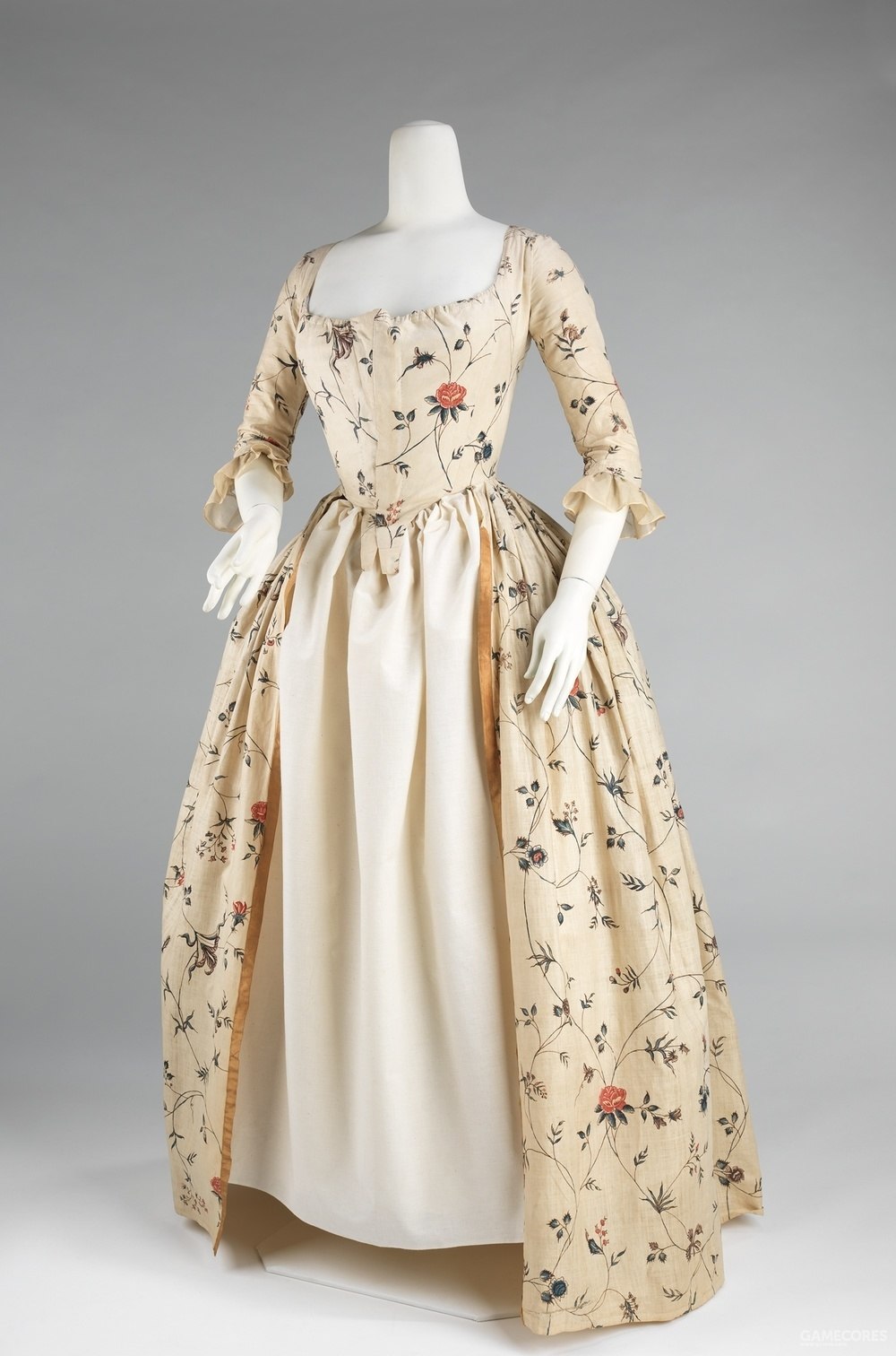 Robe à l'Anglaise, 1785–95 (MET)