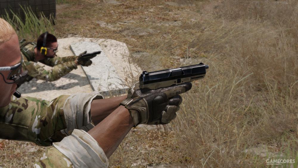 使用P07射击