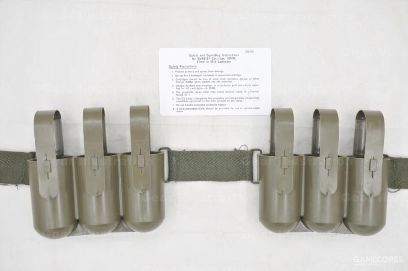 XM651催泪榴弹专用型,因为弹头里是液体,需要抗冲击的装具。图示为日产复刻品