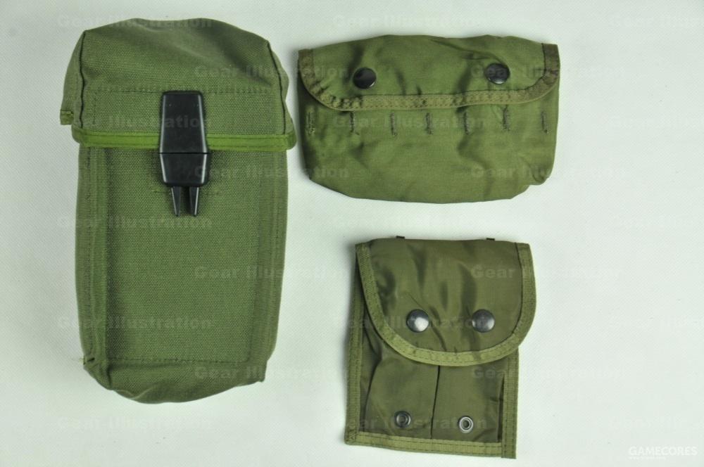 一些商业版附包:100R M60弹链包、10发12#霰弹包、双联手枪弹匣包