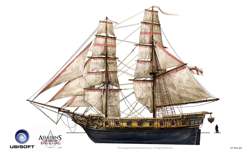 皇家海军的brig概念图