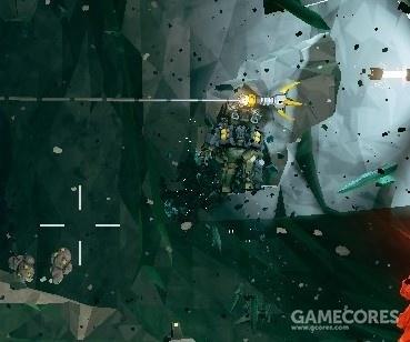 为了挖掘垂直墙壁上的矿石,机枪手假设了索道,