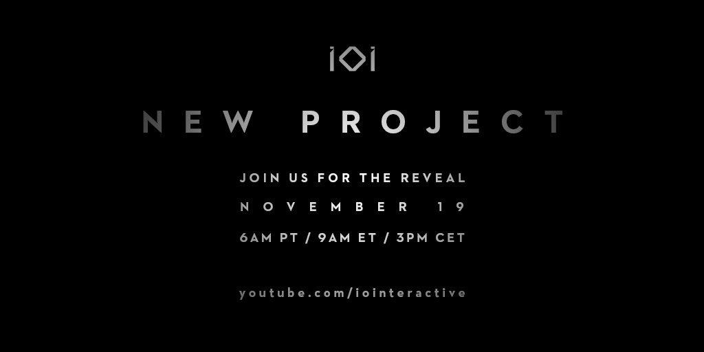 《杀手》系列游戏开发者IO Interactive将于今日公布新项目