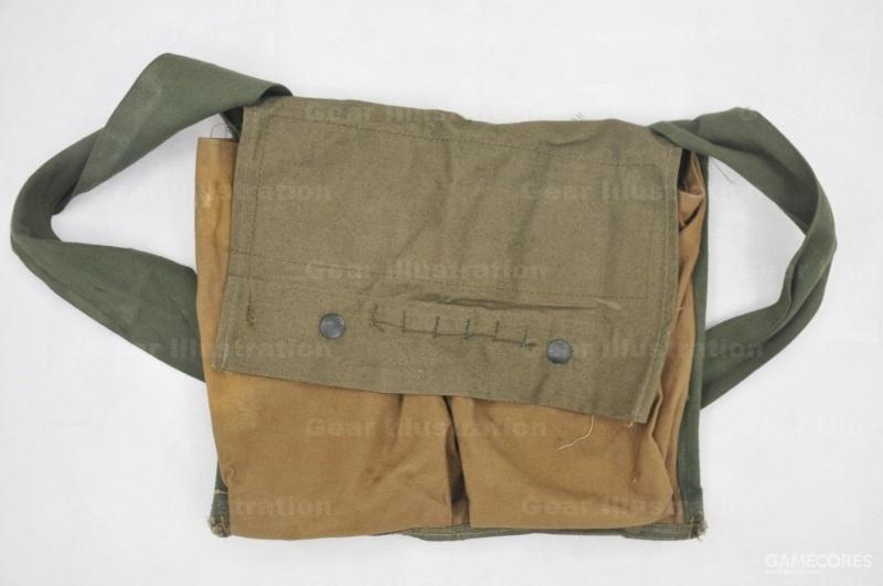 """M7型,用来携带M18A1""""阔剑""""反人员定向地雷。一格装地雷本体,一格装导线轴和起爆器"""