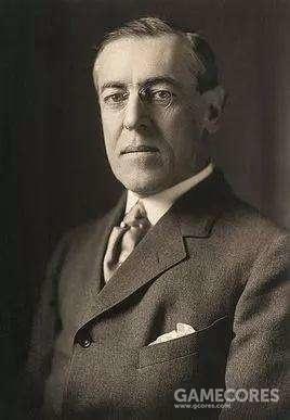 伍德罗·威尔逊,民主党人,美国第28任总统,曾任普林斯顿大学校长和新泽西州长。他是唯一一名拥有哲学博士头衔的美国总统(法学博士衔除外),也是唯一一名任总统以前曾在新泽西州担任公职的美国总统,还获得了诺贝尔和平奖。