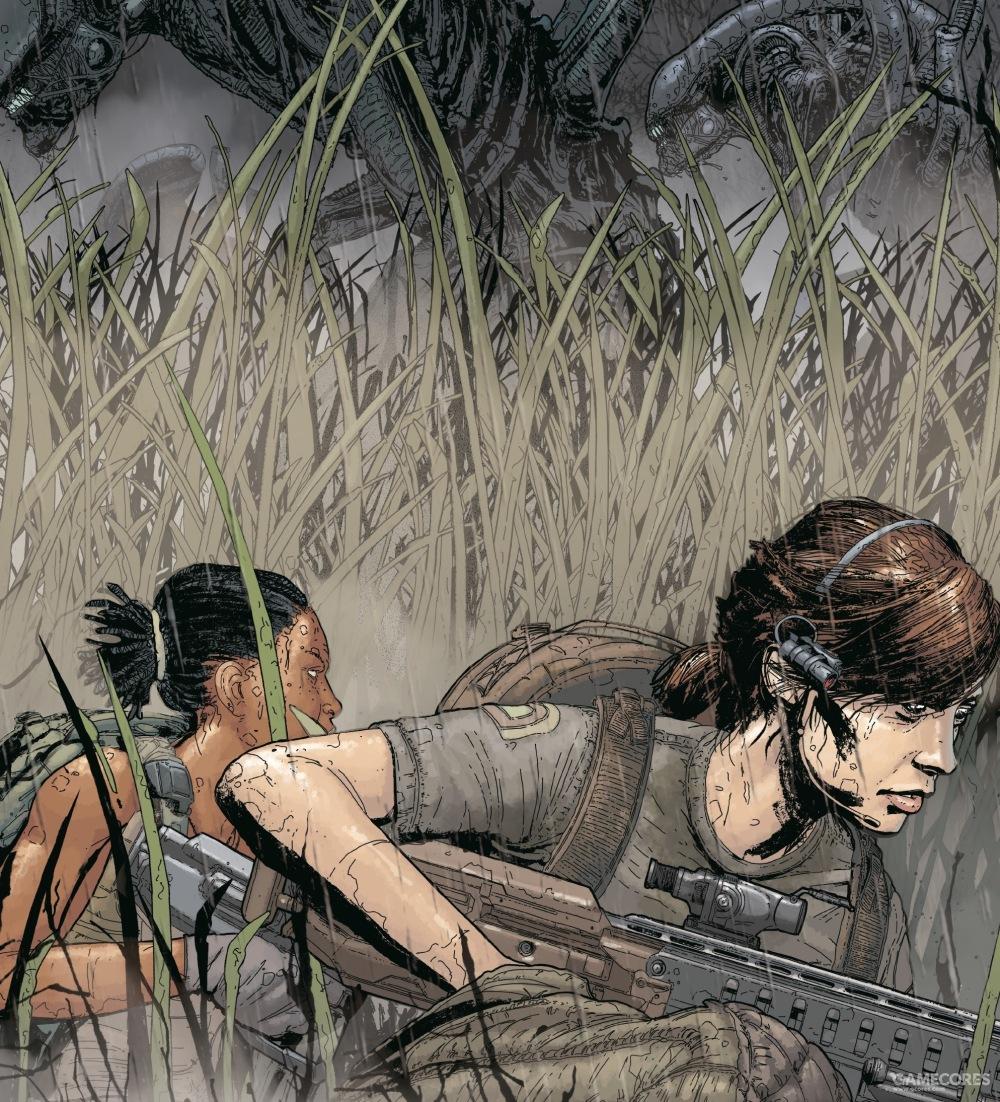 阿曼达和祖拉在卫星地表的荒野中前进
