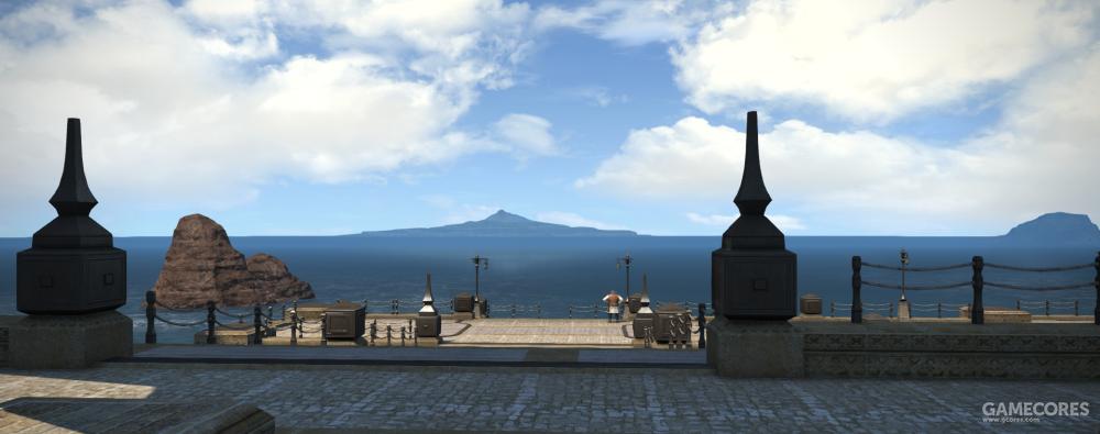 在黄昏湾远眺可以看到威尔布兰德岛