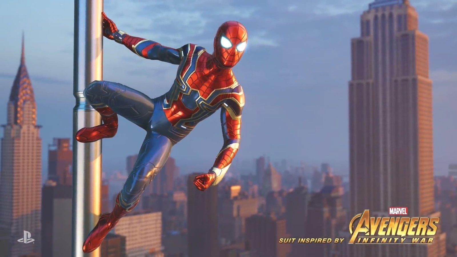 游戏《蜘蛛侠》联动《复仇者联盟3》,电影版钢铁侠定制作战服公开