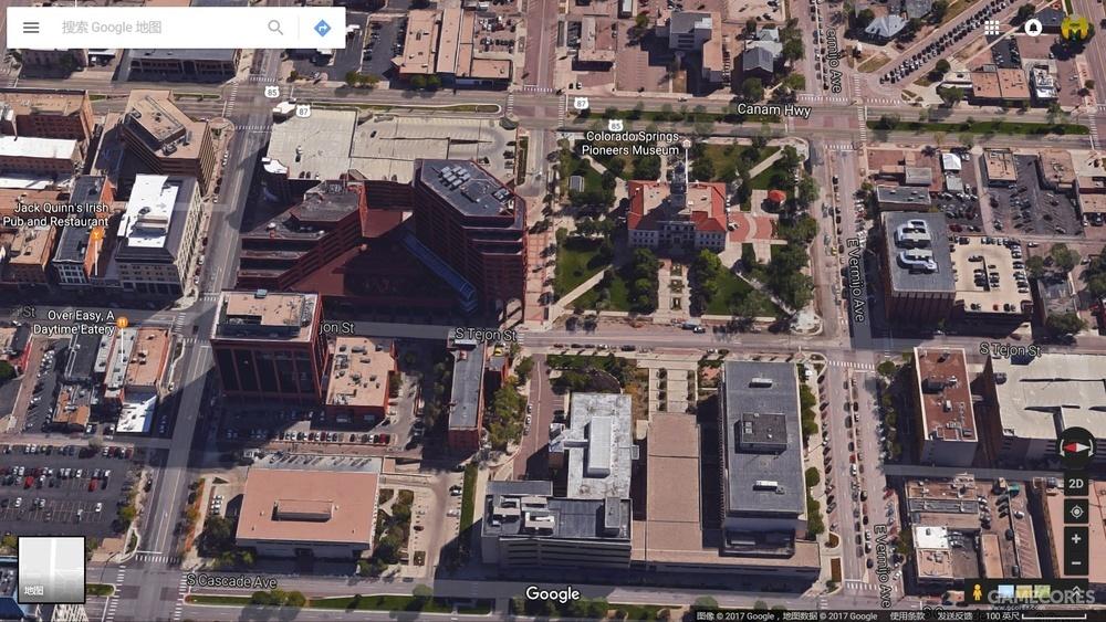 现实中的两个建筑,谷歌地图的3D功能已经覆盖很多地方了