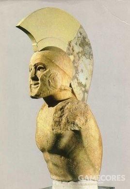 斯巴达战士雕像