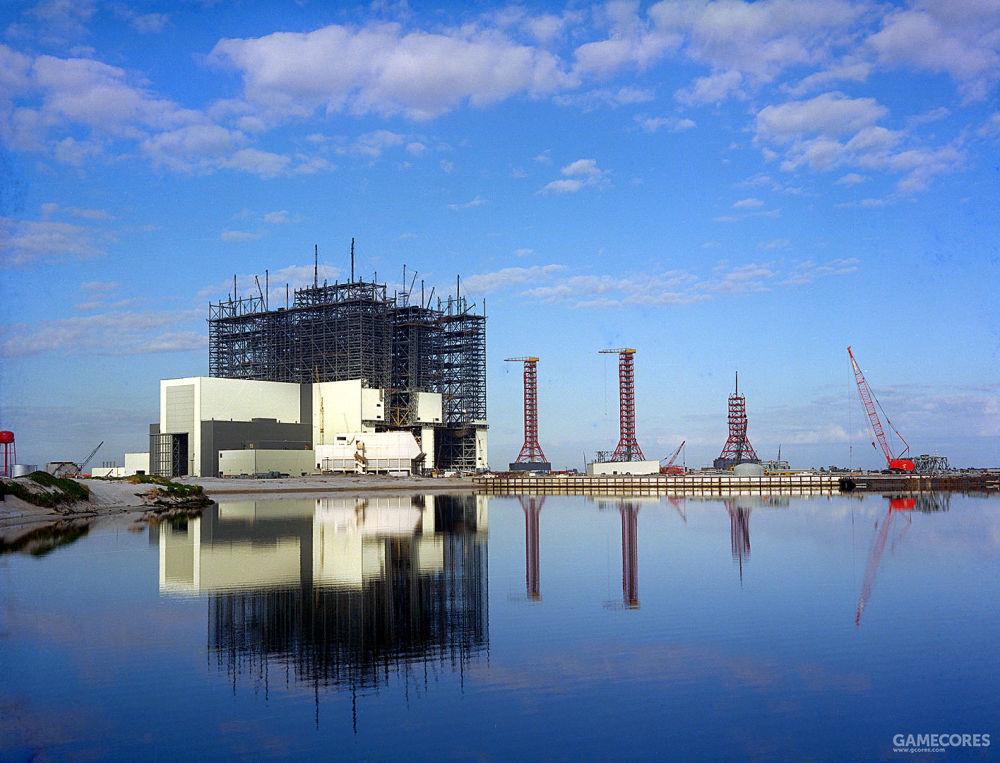 正在建设的肯尼迪航天中心的装配楼