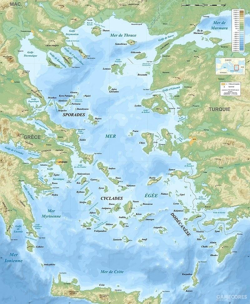 爱琴海上诸多的岛屿为海盗们提供了天然的隐蔽处