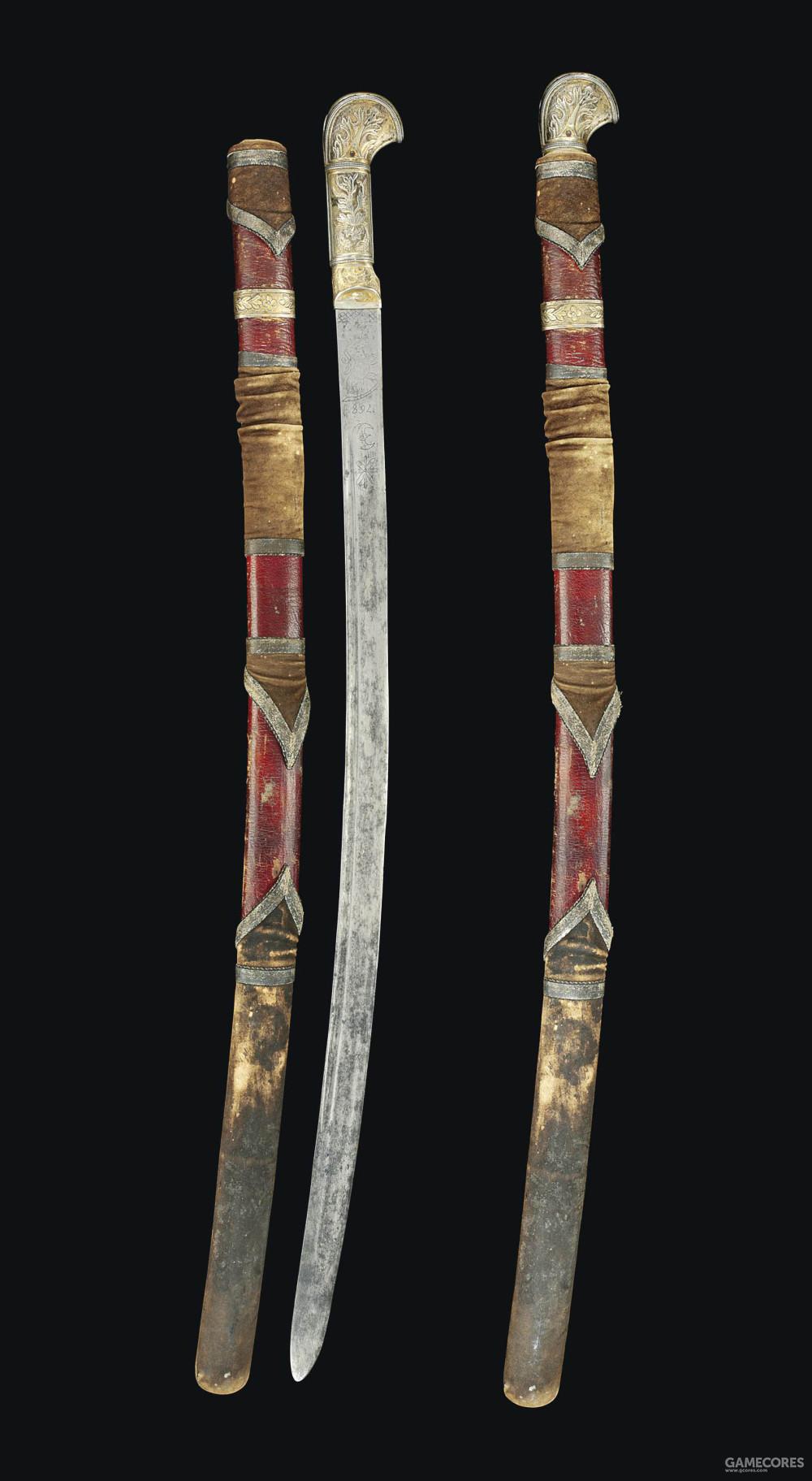 19世纪的高加索恰西克剑