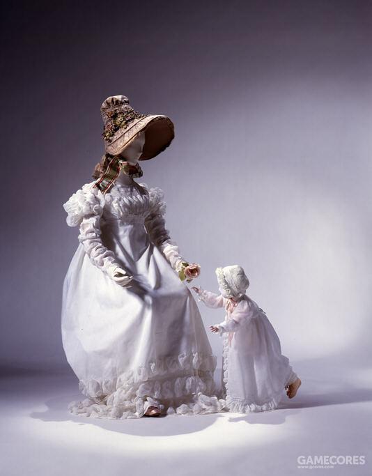 Dress, c 1818 (MET) 裙摆边多饰有荷叶边等花边是1810年代后期的特色