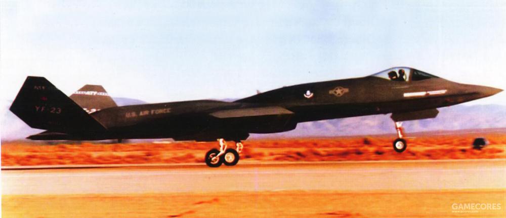 1990年8月27日,YF-23 PAV-1在诺斯罗普首席试飞员保罗·梅茨(Paul Metz)的驾驶下进行了首飞。