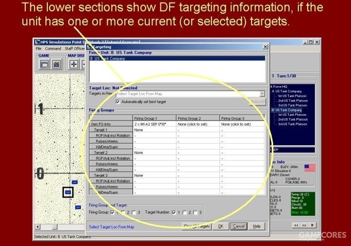 如果单位有至少一个当前目标的话,就会在对话框下方部分显示出目标信息。