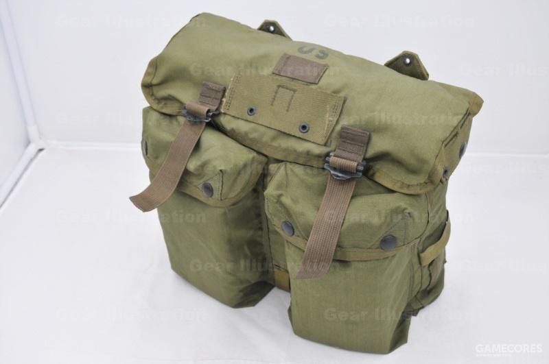 M-1967 USMC 装具的作战背包正面