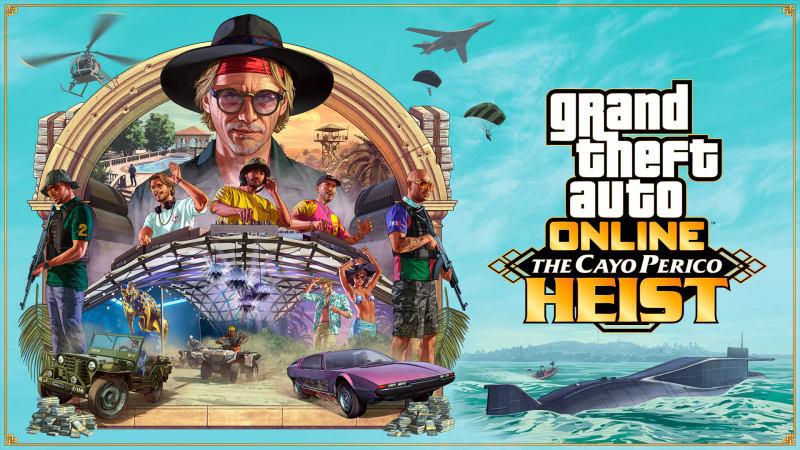 "R星公布《GTA5》在线模式规模最大更新""佩里科岛抢劫任务""及后续信息详情"