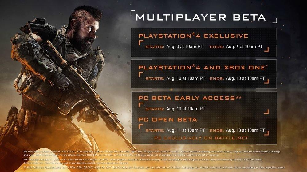 《使命召唤:黑色行动4》多人模式Beta测试时间公布,PC战网免费开放