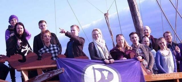 冰岛海盗党成员参加纪念活动,2016年