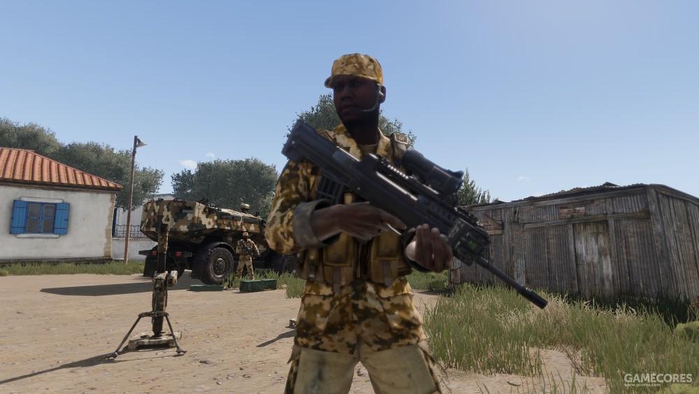 手持CAR-95的非洲士兵