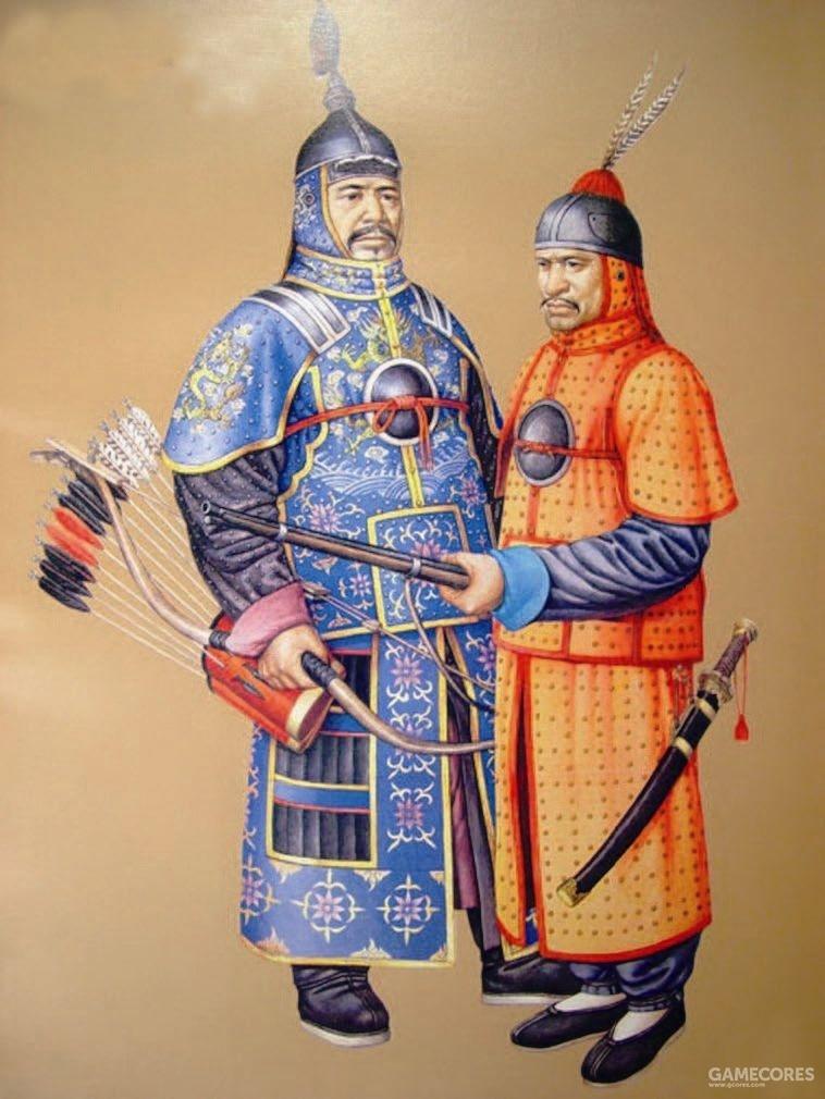 清朝八旗兵,建州女真作为农业社会体系,战斗力比长期威胁明朝的蒙古更加强大