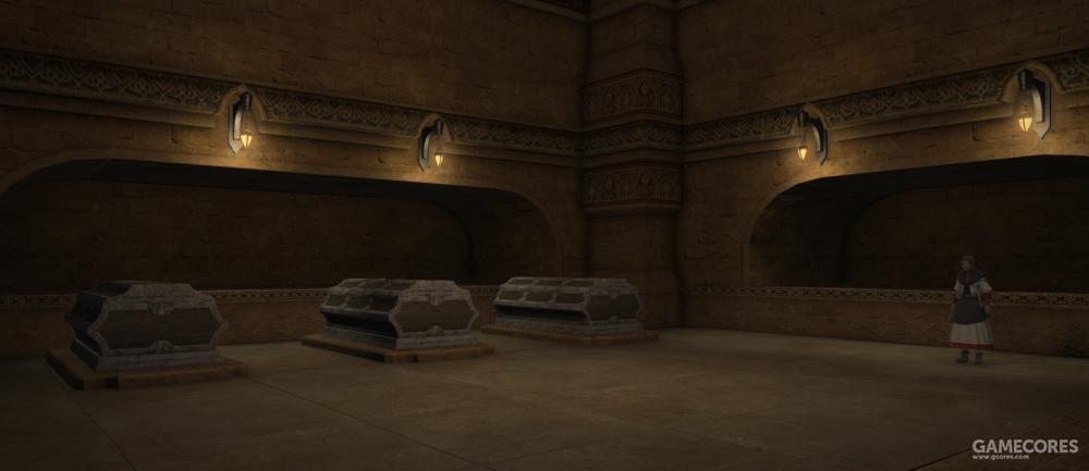 位于阿达内斯圣柜堂旁的艾拉里格墓地,伴随着葬仪式的需要,火魔法和冰魔法的运用也在阿达内斯圣柜堂独树一帜