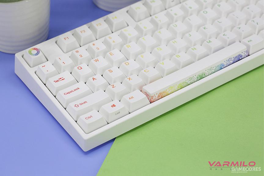阿米洛彩虹主题机械键盘