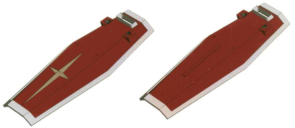 RGM-M-Sh-003/007护盾是RGM-79标准型主要使用的护盾。其中003型由月神钛合金制造,面对实弹武器有着良好防护能力。007型是在吉翁公国光束武器开始大量出现后,以钛陶瓷复合材料为材质并外加耐光束处理的型号。对于机体装甲材料相比RX-78大幅缩水的RGM-79来说,护盾提供的防护能力显得尤为关键。