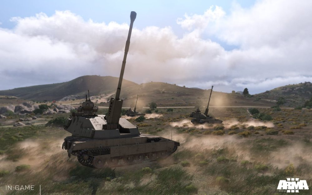 集群射击的M4榴弹炮
