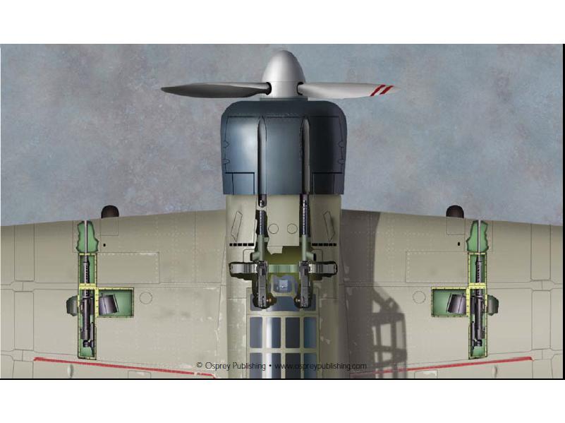 零式舰载战斗机将机枪和机炮混合配置,布置方式和Me-109E差不多