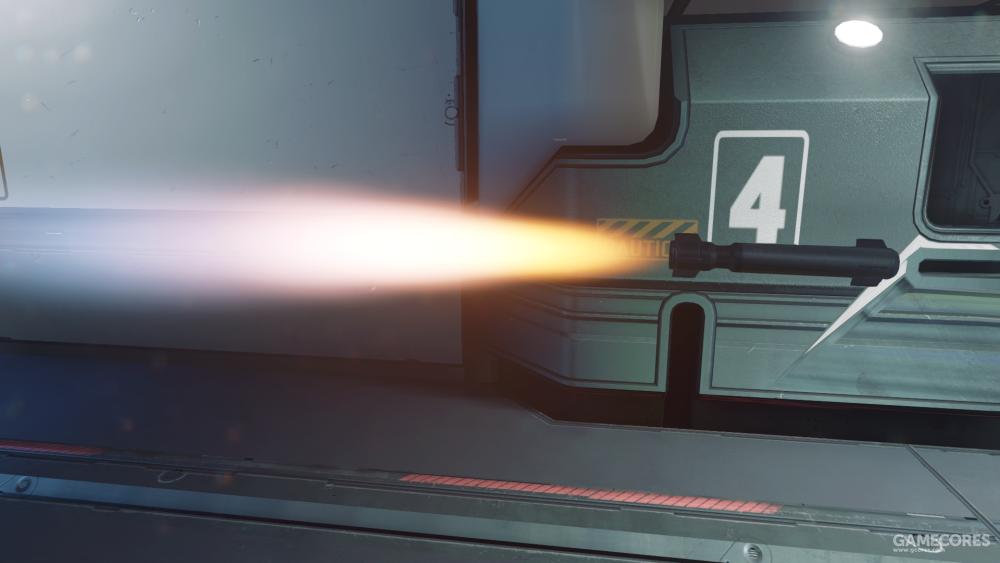飞行中的M19型火箭弹