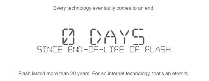 1996至2020:Adobe正式终止Flash支持