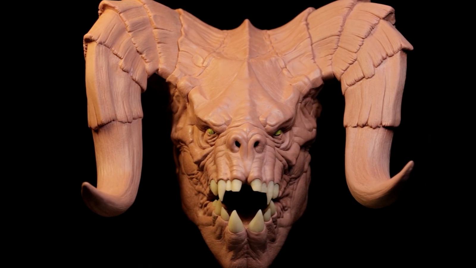 雕刻大師做了個死亡爪的粘土