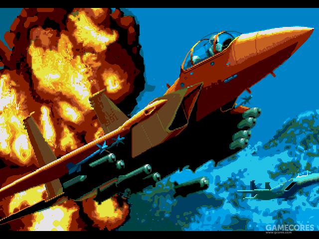 """Microprose公司的F-15打击鹰系列,也是这个公司的""""余晖""""作品。1993年后公司流失了大批开发人员,从此一蹶不振直到倒闭"""