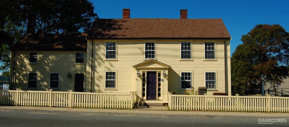 乔治·皮博迪和玛丽·皮博迪的父母分别是托马斯·皮博迪和朱迪思·道奇(Thomas Peabody and Judith Dodge),图中的房子是他的出生地。