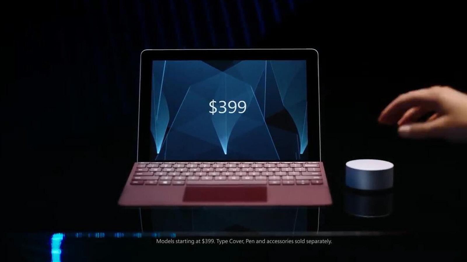微软公布Surface Go笔记本,售价399美元