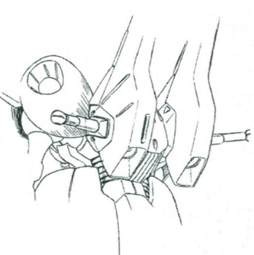 PMX-001除了背包的推进器外,后裙甲也设计了大型推进器。单就推力数据而言,推进系统97500KG的总推力其实已经远超同期MS。