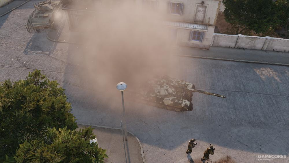"""在""""钢铁天马""""战役中,一辆AMV-7靠着40mm炮击毁了T-100的发动机,可见这辆坦克糟糕的防御力"""