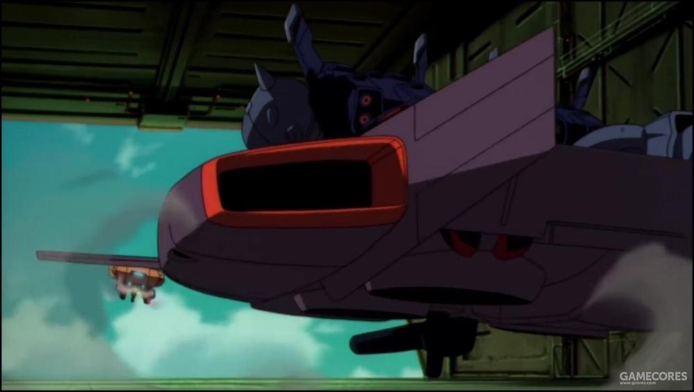前方舱门拥有完整的弹射轨道系统。能够快速弹射多架次SFS系统。