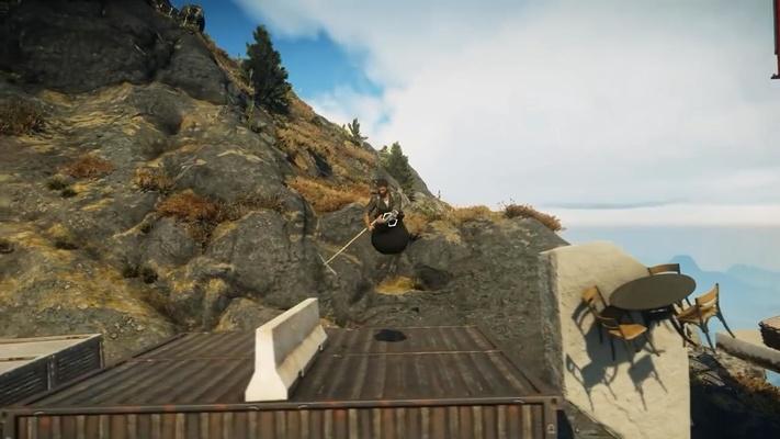 《正当防卫4》竟然在游戏里藏了个《掘地求升》